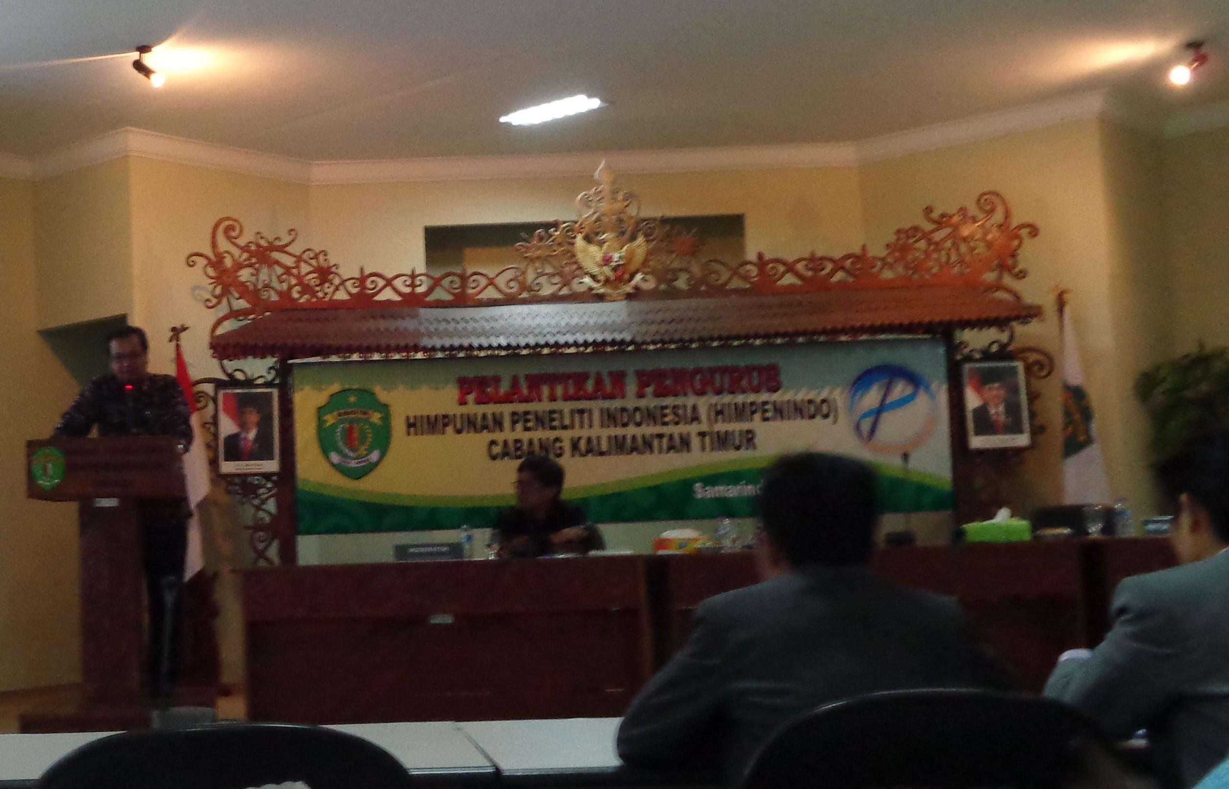Pelantikan Pengurus HIMPENINDO cabang Kalimantan Timur