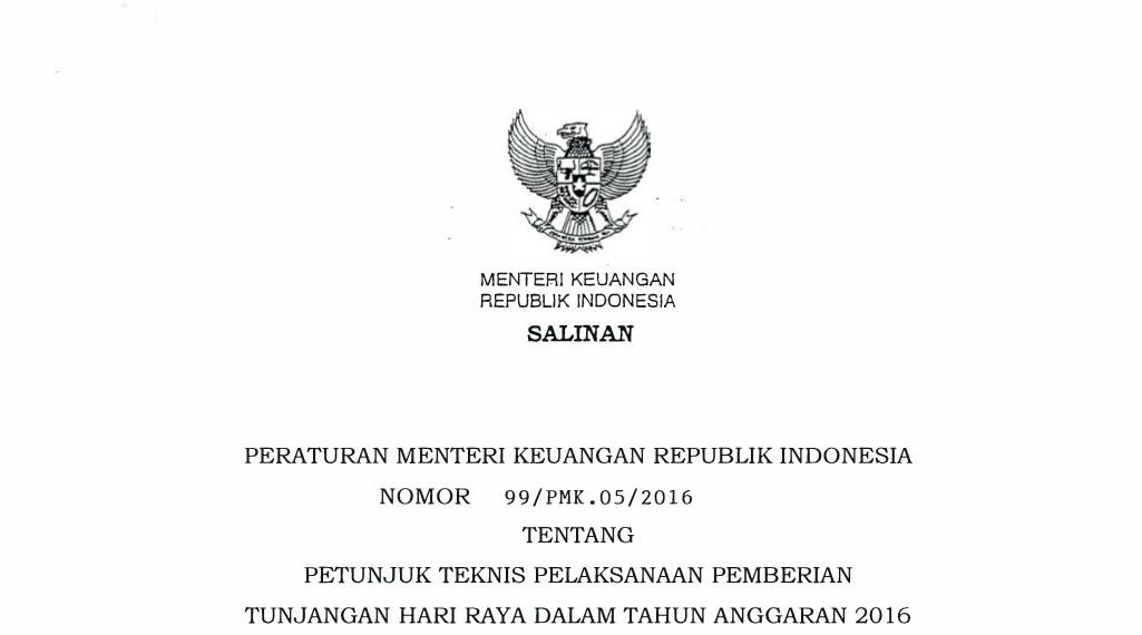 Peraturan Menteri Keuangan terkait dengan Gaji 13 dan THR