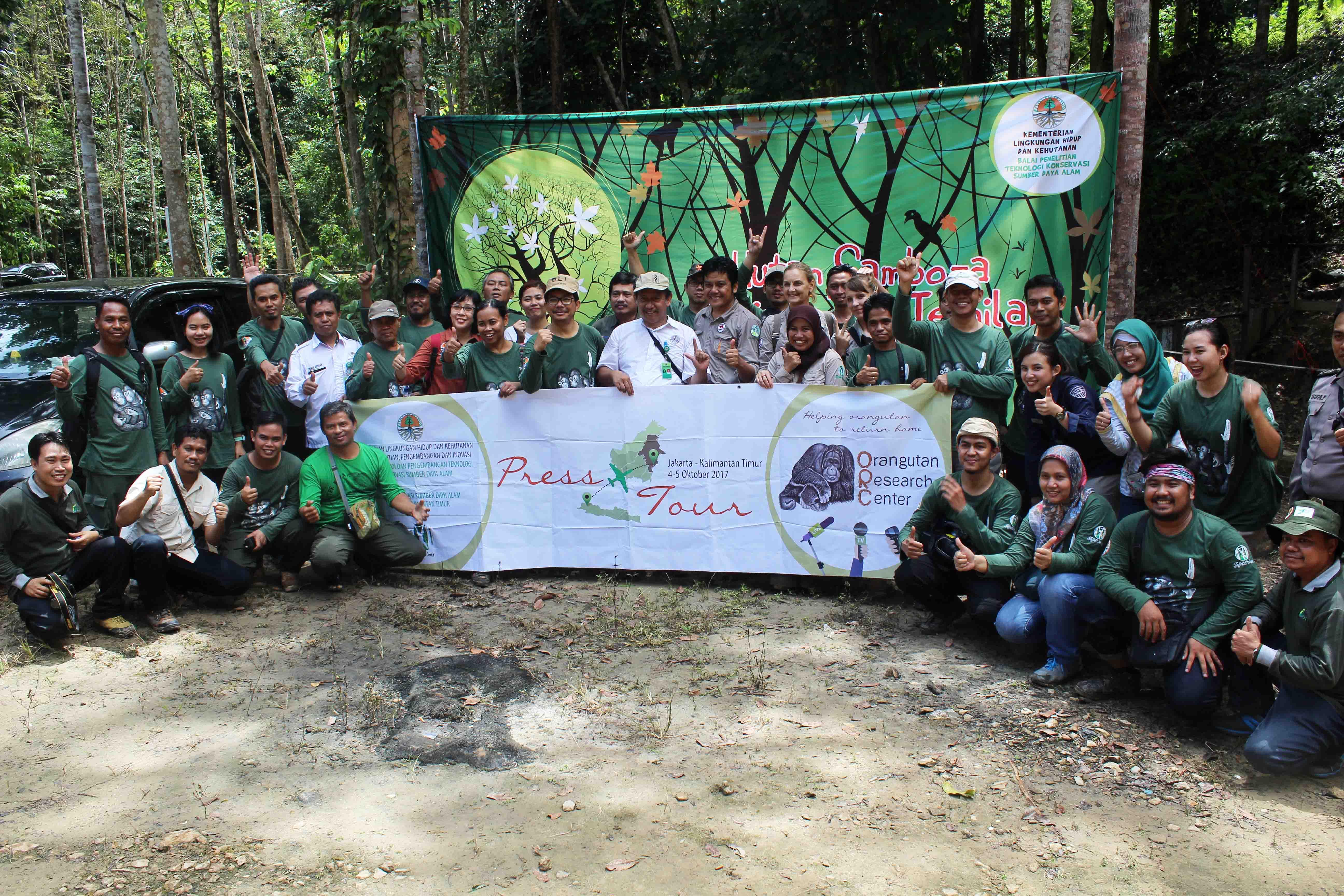 Presstour BLI di Pusat Penelitian Orangutan Samboja